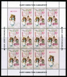 UNMOUNTED MINT 2015 EUROPA SHEETLETS - OLD TOYS- TURKISH CYPRUS