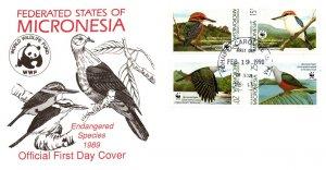 Micronesia, Worldwide First Day Cover, Birds, World Life Fund