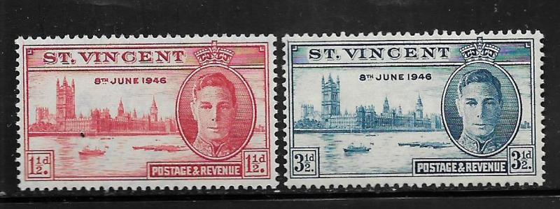 ST. VINCENT, 152-153, MNH, POSTAGE & REVENUE