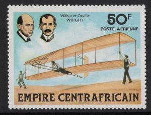 Central African Republic  #C195  Empire 1977 MNH aviation history  50fr
