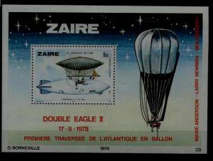 Zaire Mi.bl.51 MNH s/s Aviation