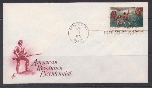 1563 Lexington and Concord Unaddressed ArtCraft FDC