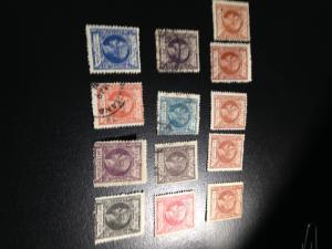 Cuba sc 156-163, 165-166, 168,171,172 m+uhr