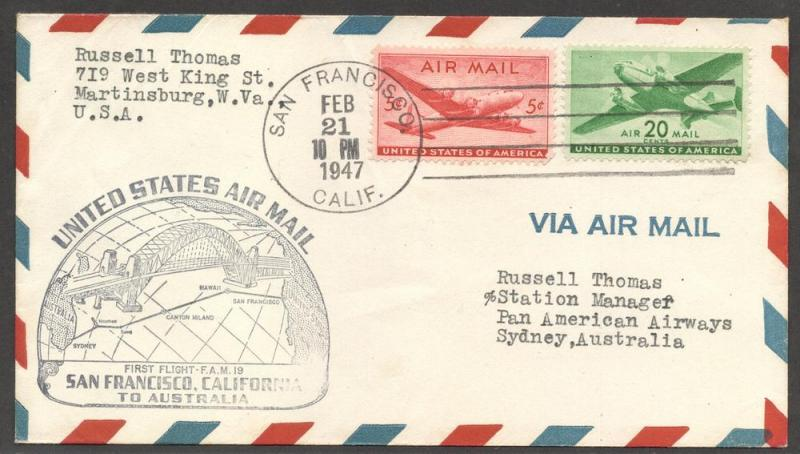 US#C32 & C29 - First Flight Cover