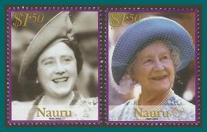 Nauru 2002 Queen Mother, MNH #499-500,SG546-SG547