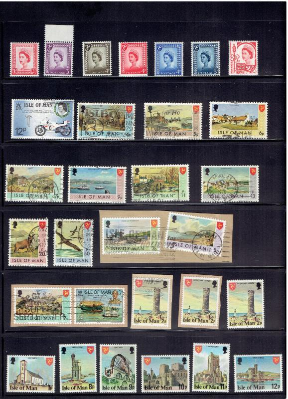 LOT Isle of Man, MNH,  S.S's, FDC's, 1985 Presentation PackS W / OUT STAMPS
