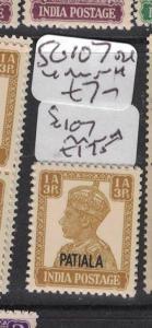 India Patalia SG 107 MNH (4dtv)