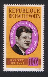 Upper Volta President Kennedy Commemoration 1v 1964 MNH SG#152