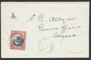 GRENADA 1948 local ½d rate cover CARRIACOU cds.............................51458