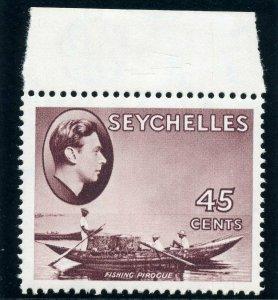 Seychelles 1938 KGVI 45c chocolate (CH) superb MNH. SG 143. Sc 140