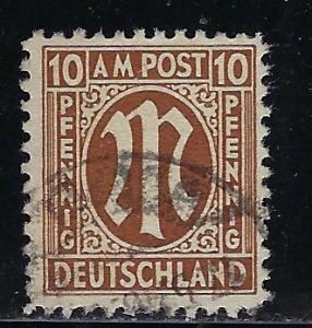 Germany AM Post Scott # 3N7a, used