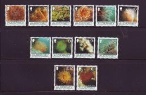 Alderney Sc 279-90 2006 corals & Anenomes stamps mint NH