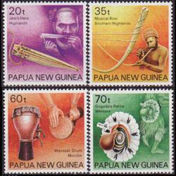 Papua New Guinea MNH 746-9 Musical Instruments 1990