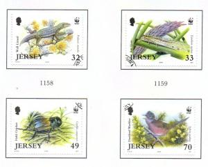 Jersey Sc 1134-7 2004 WWF Endangered Life stamp set used