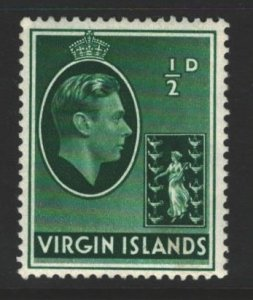 British Virgin Islands Sc#76 MLH - pencil on back