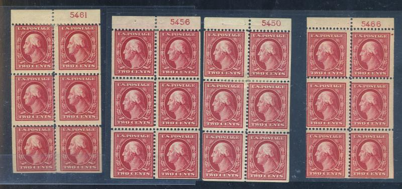 375a (4) MINT with PL#'S Ave-Fine OG HR Cat$700