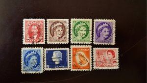 Canada Set of 8v Used Stamps. Few Rare