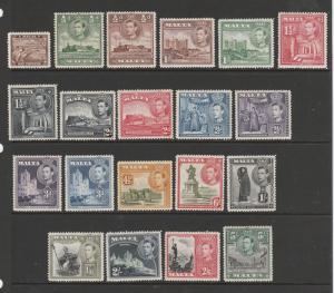 Malta 1938 Set to 5/- MM SG 217/30