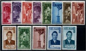 HERRICKSTAMP VIET NAM Sc.# 1-13 1951 Emperor Bao Dai Immaculate Set Mint NH