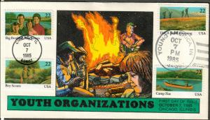 US Collins FDC SC#2160-2163 Youth Organizations