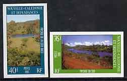 New Caledonia 1986 Landscapes #2 set of 2 imperf from lim...