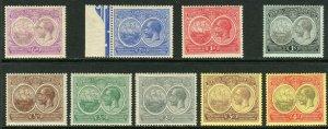 1920-1921 Bermuda full set (9) KGV & Seal of the Colony MH Sc# 55 / 60 67 / 69