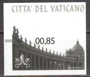 Vatican 2008 Vending Machine Stamps MNH