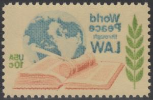 #1576 VAR. WORLD PEACE THROUGH LAW FULL OFFSET ON REVERSE MAJOR ERROR BR1463