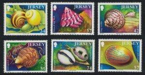 Jersey Sea Shells 6v SG#1264-1269