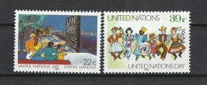 United Nations MNH 515-6 United Nations Day 1987