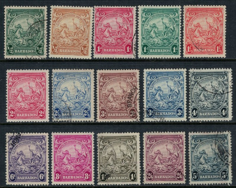 Barbados #193-5,195B-201A*/u  CV $23.95