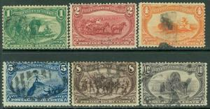 EDW1949SELL : USA 1898 Scott #285-90 Used. Small faults. Catalog $147.00.