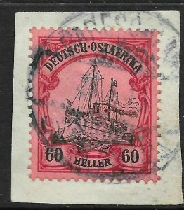 GERMAN EAST AFRICA SG33 1905 60h BLACK & CARMINE ON ROSE USED