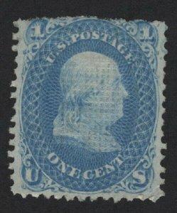 United States MINT Scott Number 92  MHR  VF  -  BARNEYS