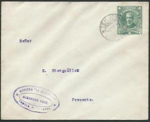 CHILE 1915 4c envelope used locally - TEMUCO cds...........................61307