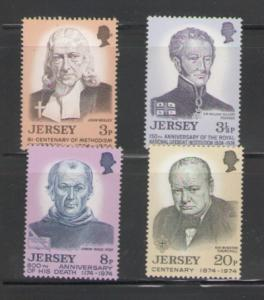Jersey Sc 103-6 1974 anniversaries mint NH