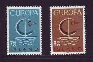 Iceland Sc 384-5 1966 Europa stamp set mint NH
