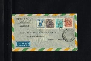 1948 - Brasil Air letter - To Antwerp [B06_116]