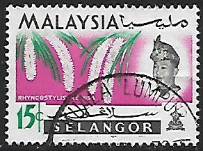 Malaya, Selangor # 126 - Foxtail Orchids - used....{BR23}