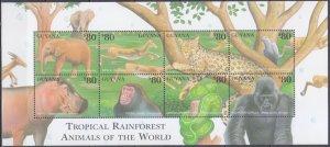 2001 Guyana 7306-13KL Fauna 12,00 €