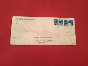 Ceylon 1957 Martenstyn & Co Air Mail England stamp cover R36194