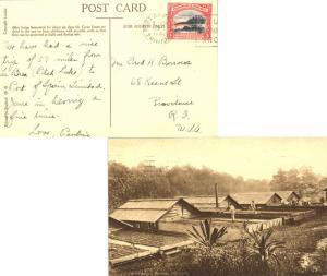 Trinidad 3c Mt. Irvine Bay, Tobago 1936 Port-of-Spain, Trinidad PPC (Cacao Dr...