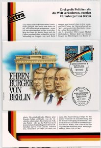 Germany 1990/91/92, Historical documents,FDC's