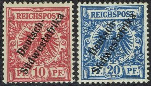 GERMAN SOUTH WEST AFRICA 1897 EAGLE 10F AND 20PF