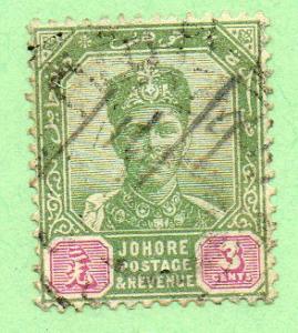 Malaya-Johore  Scott  39  Used