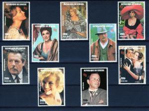 Senegal 1999 - Actors & Actresses Set  (9) MNH Mi.1600/608