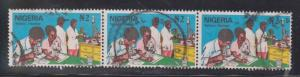 NIGERIA Scott # 500 Used - Technical Education Strip Of 3