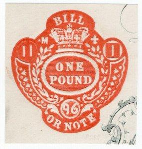 (I.B) QV Revenue : Bill or Note £1 (Impressed Duty)