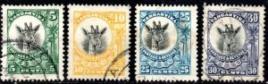 1925 Tanganyika Sg 89/92 British Mandated Territory Set of 4 Values Fine Used