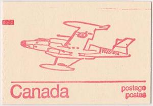 Canada USC #BK74K Rare Counter Booklet CF100 cover. Re-Entry VF-NH